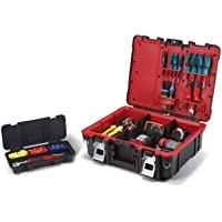 Deals on Keter 241111 Technician Case Tool Storage Box w/Strap