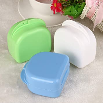 Amazon com : Denture Bath Appliance False Teeth Box Storage