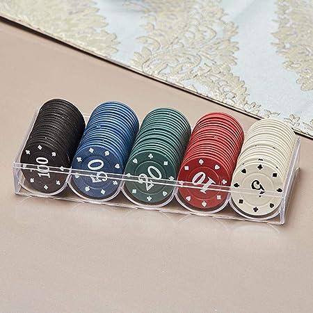 Rikey Set di 100 Fiches da Poker Opache in Plastica da 40 Mm Effective