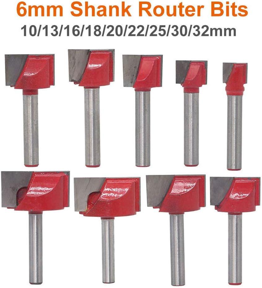 Pour fente M/èche de nettoyage pour fraise /à tige droite de 6 mm M/èches de fraise CNC taille de la kinfe : 10-32 mm rouge coupe