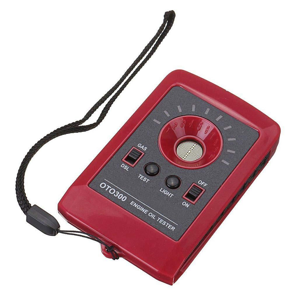 Demiawaking Tester di qualit/à dellolio Auto Digitale LED Rilevatore di Motore Analizzatore di Gas e Gasolio