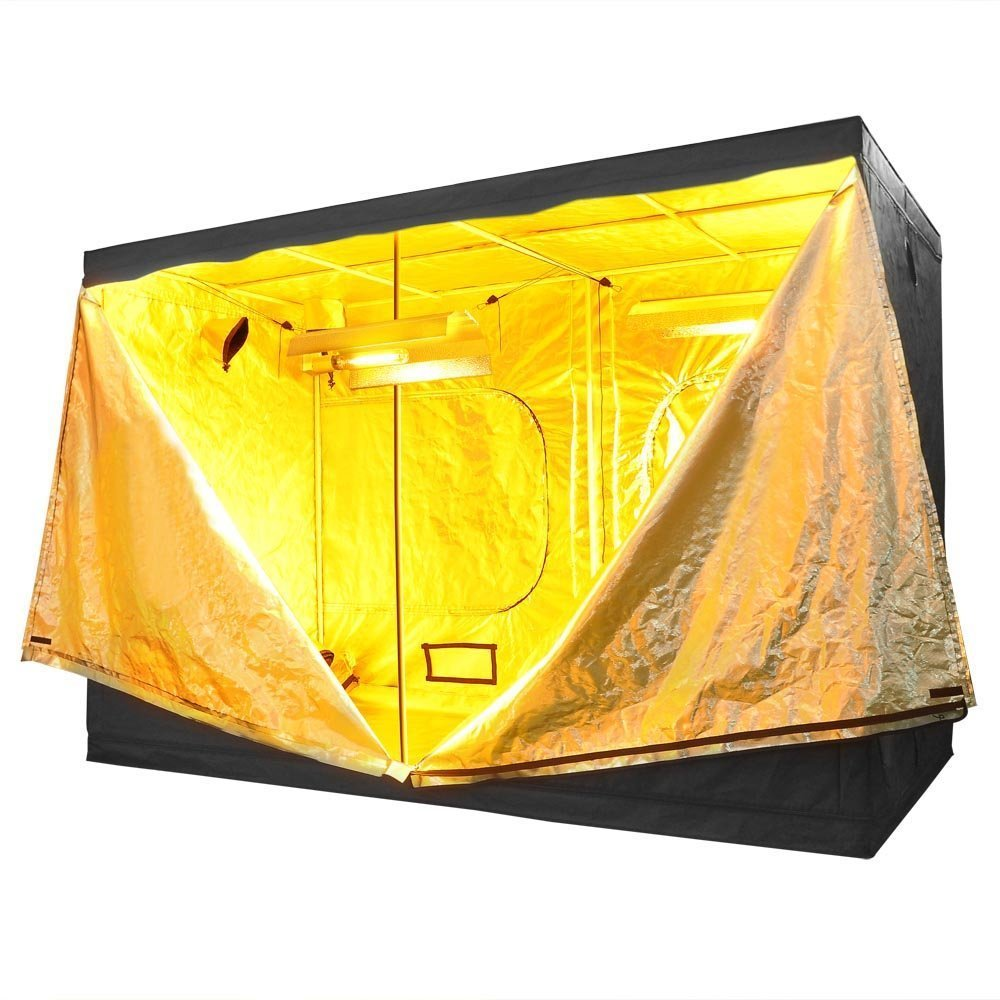 118x60x78 Inches 352 lbs Capacity Large Door Hydroponics Interior Mylar Reflective Grow Tent Cover w/ Metal Rods Frame & 600D Oxford Cloth for Indoor Garden Plant Growing