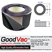 Honeywell Replacement 20500 HEPA Air Purifier Filter with Odor Absorbing PreFilter fits 10500 EV-10 by GoodVac