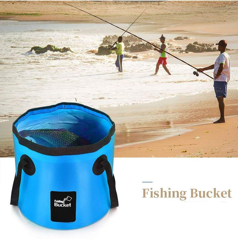 BANCHELLE Collapsible Bucket Camping Water Storage Container 20L Portable Folding Bucket Wash Basin for Traveling Hiking Fishing Boating Gardening