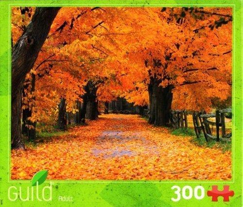 Autumn Fall Trees & Leaves Nature Scene 300-piece Puzzle ()