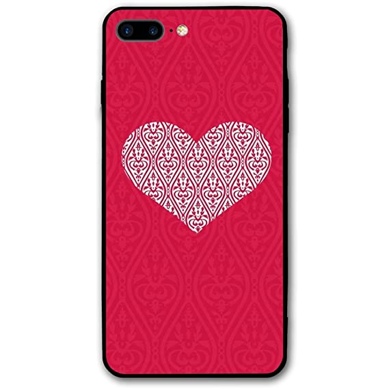 huge selection of cccd6 22cd4 Amazon.com: iPhone 8 Plus Case 3D Print Red Heart Phone Case Mobile ...