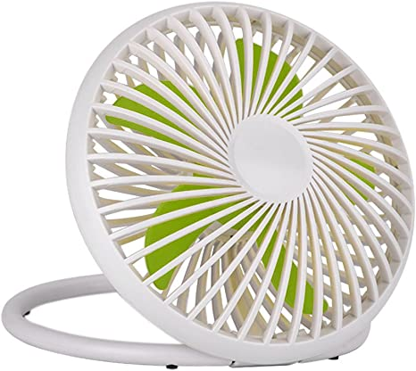 Portable USB Powered Desk Fan Personal Cooling Fan,Small Table Fan Cooling Fan With 2 Speed /& Adjustable Height,Great For Desktop Office Travelling Camping Fishing Home White