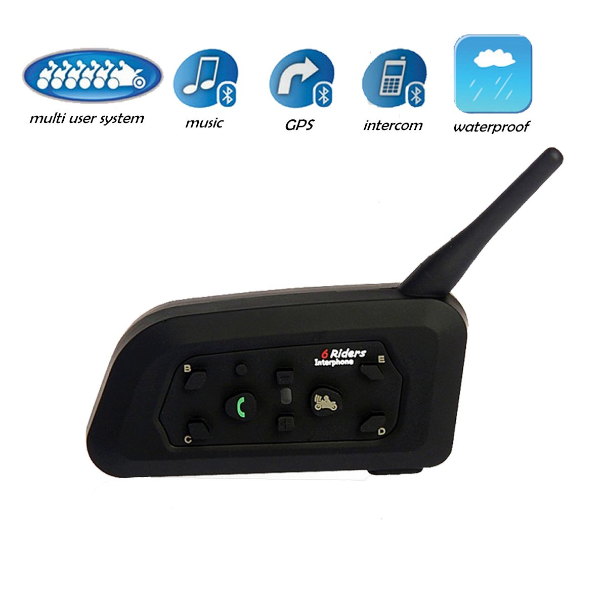 Motorcycle Intercom Helmet Accessories Communication Headsets/Bluetooth 3.0/Multi User System/Waterproof