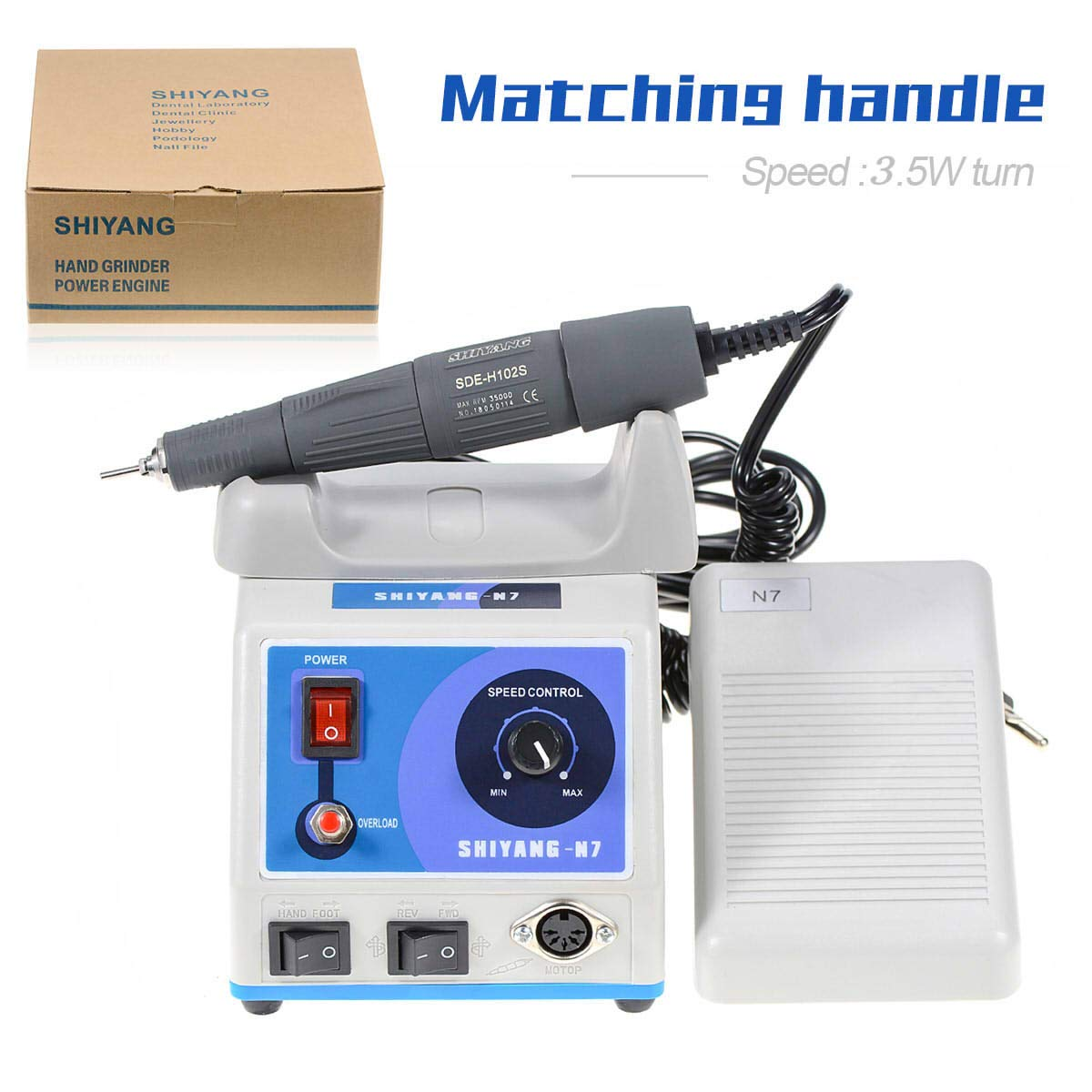 OUBO Brand Micro Motor N7 Polishing Machine Jewelry Making Tools with 35K RPM Hand Tool by OUBO