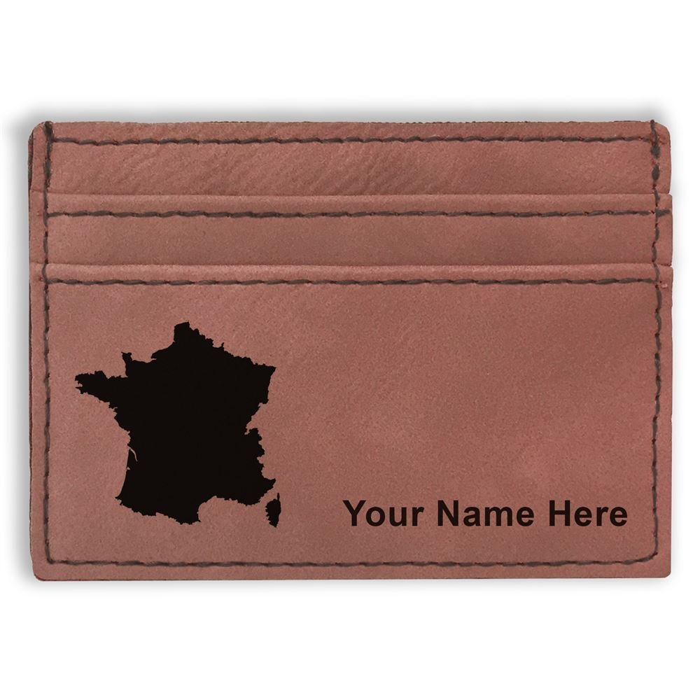 Money Clip Wallet Personalized Engraving Included Country Silhouette France