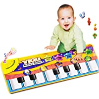 Gbell Baby Piano Keyboard Music Play Mat Toys,Touch Dancing Musical Floor Mat Educational Games Gym Toy Gift for Infant Toddlers Girls Boys Kids 1 2 3 4 5 6 Years Old,28.35×11.02inch