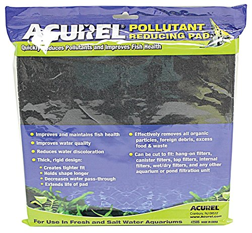 (Acurel LLC Pollutant Reducing Media Pad, Aquarium and Pond Filter Accessory, 10-Inch by)