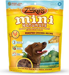 product image for Zuke's Mini Naturals Dog Treats, Roasted Chicken Recipe, 6 Ounce