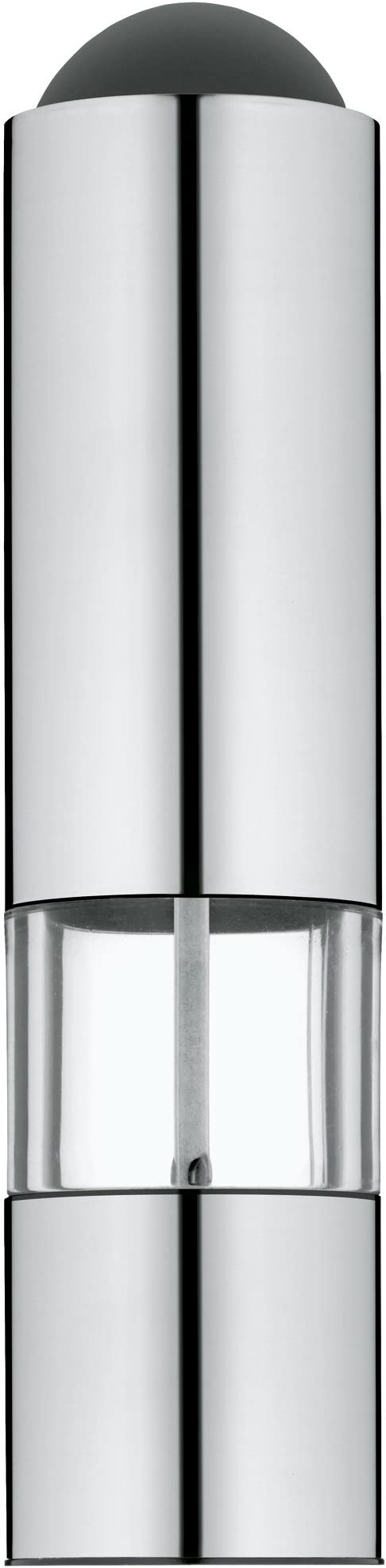 Wmf Elektrische Mühle 21 Cm Salz Und Pfeffermühle Unbefüllt Led Leuchte Cromargan Edelstahl Matt Glas Keramikmahlwerk Amazon De Küche Haushalt