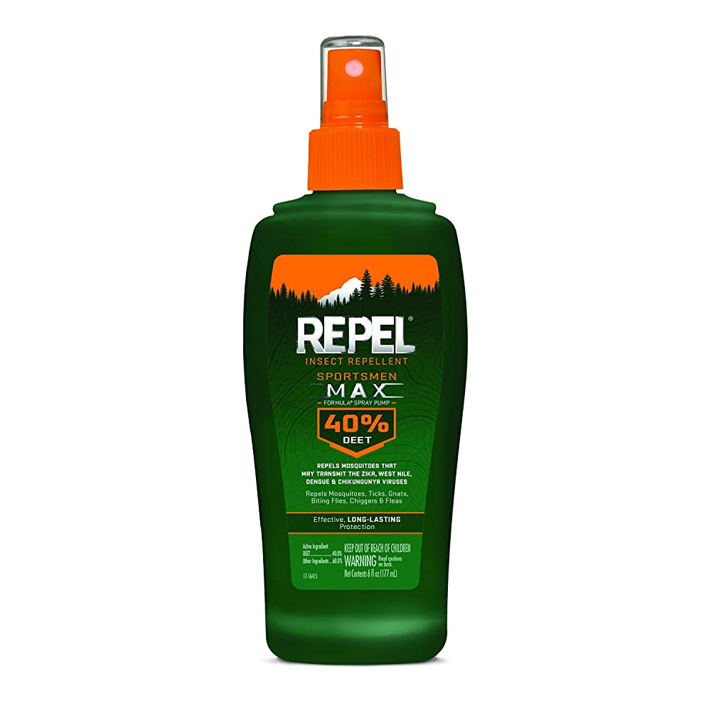 2. REPEL Sportsmen Max Insect Repellent Pump, 6-oz, 12-PK