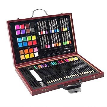 Amazon.com: goplus 80-piece Deluxe Art Set dibujo y pintura ...