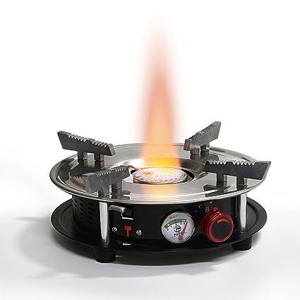 Portátil estufa de Camping con capacidad mostrando, al aire libre cocina de gas Horno de
