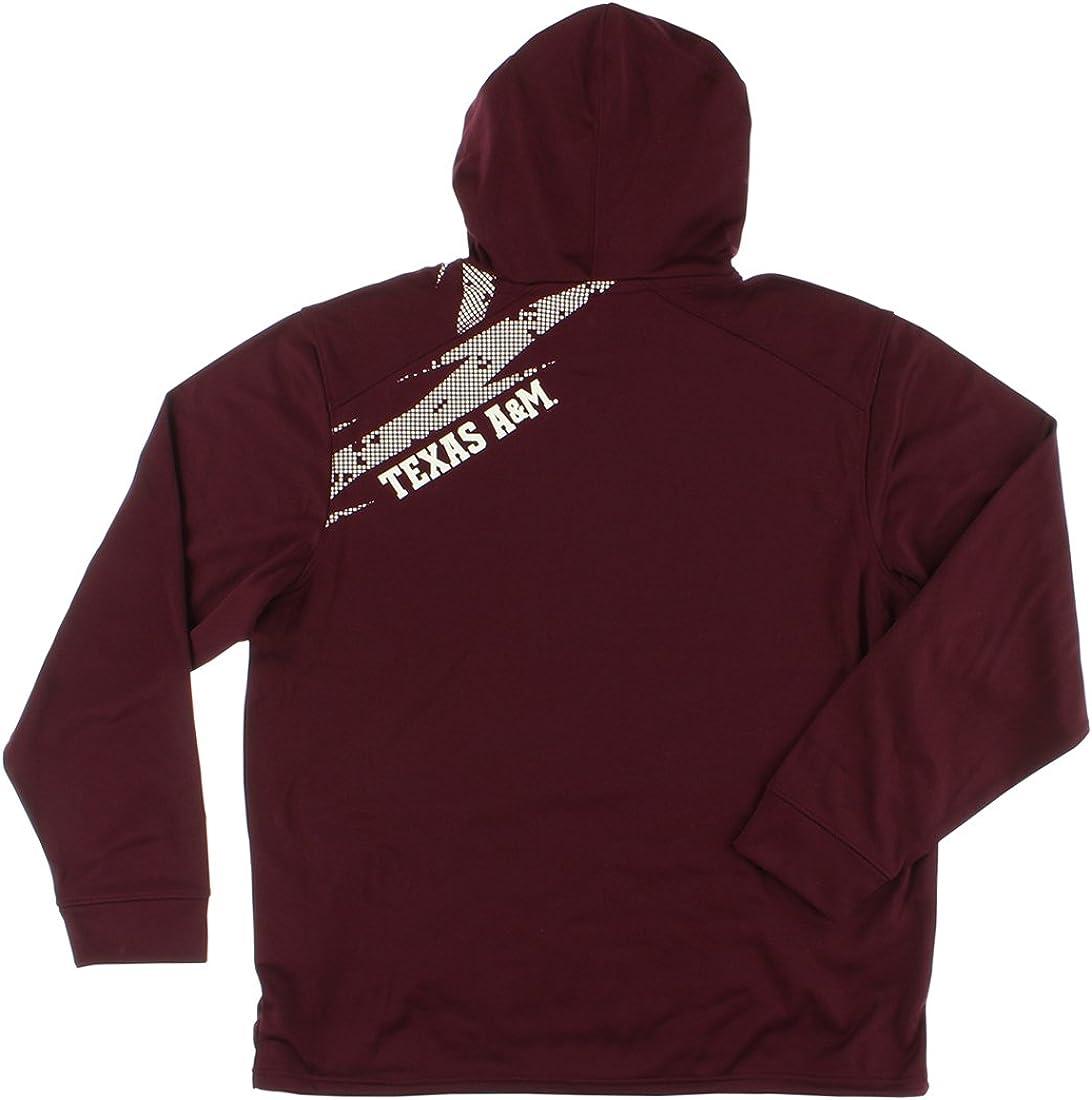 L Texas A/&M Aggies Mens Aftershock Performance Hoodie Sweatshirt