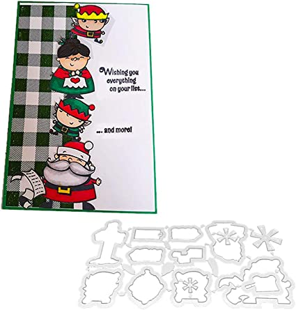Christmas Santa Claus Cutting Die Stamp DIY Scrapbook Paper Card Album Decor hudiemm0B Cutting Die