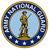 1 Pc Howling Fashionable Army National Guard Sticker Signs Window Outdoor Proud Size 3.5