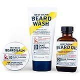 Duke Cannon Supply Co. - Best Damn Beard Collection Gift Bundle Set (3-Piece Set) Premium Men's Beard Wash, Beard Balm, and B