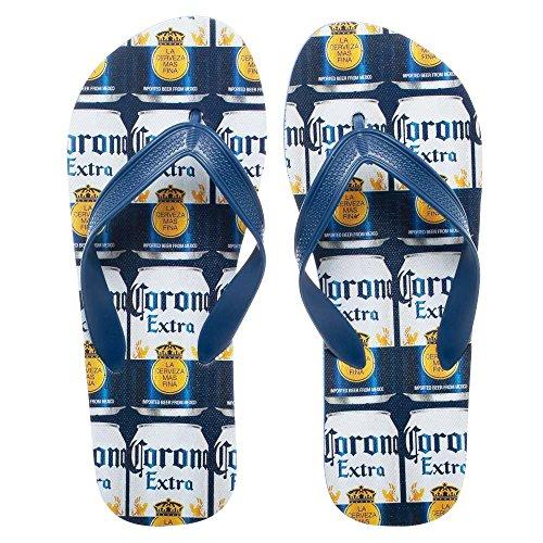 Corona Extra Repeating Can Labels Unisex Sandals Flip Flops Medium