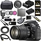 Nikon D810 DSLR Camera w/24-120 VR Lens 1556 + 128GB SDXC Card + 77mm 3 Piece Filter Kit + Universal Slave Flash unit + Mini HDMI Cable + Carrying Case Bundle