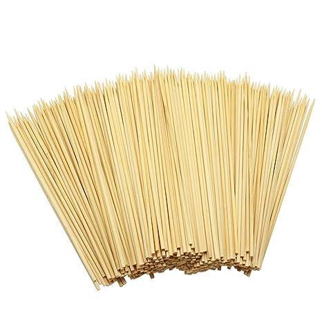 Ram® 400 Palillos de Madera de bambú para Barbacoa, Fruta ...