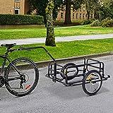 Aosom Folding Bicycle Cargo Storage Cart and