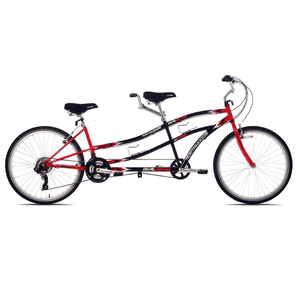 【並行輸入品】Kent Northwoods(ケントノースウッズ) デュアル ドライブ タンデム 自転車(Black/Red) B00KMXLLBM
