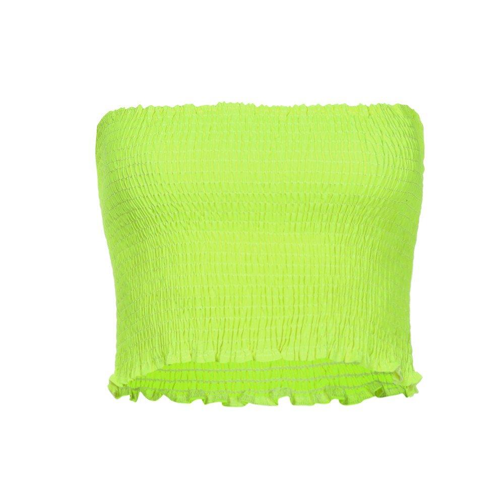 RUIVE Women/'s Vest Strapless Elastic Boob Bandeau Solid Color Tube Tank Tops Bra Lingerie Breast Wrap