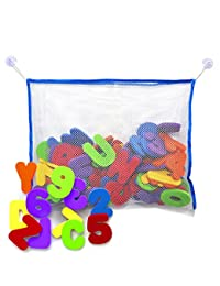 Bath Letters and Numbers with Bath Toy Organizer. Educational Bath Toys with Premium Bath Toy Storage BOBEBE Online Baby Store From New York to Miami and Los Angeles