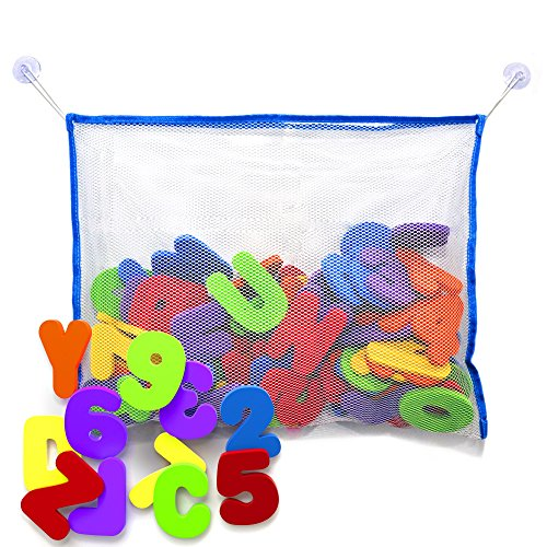 Bath Little Tikes (Bath Letters and Numbers with Bath Toy Organizer. Educational Bath Toys with Premium Bath Toy Storage)