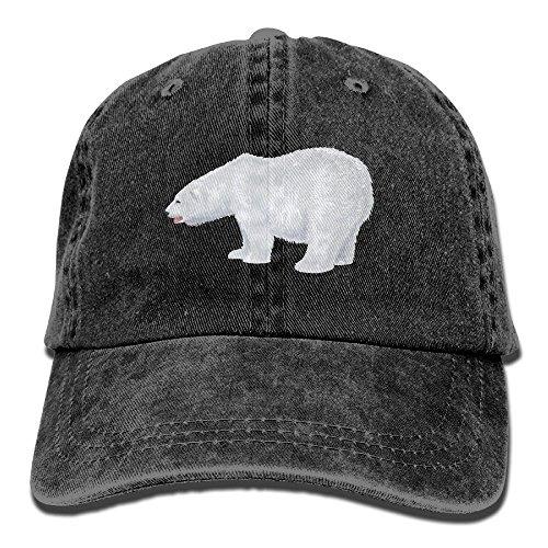 (Men Women White-Polar-Bear-Transparent-Clip-Art-Image Adjustable Vintage Baseball Caps Washed Cowboy Dyed Denim Hat Unisex)
