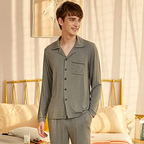 JFCDB Pijama,Pijama para Hombre, Chaqueta de Punto, Ropa de ...