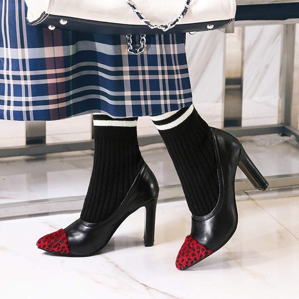 Easemax Damen Damen Damen Fashion Spitz Kappe Sock Stiefel Halbstiefel Mit Absatz 13013a