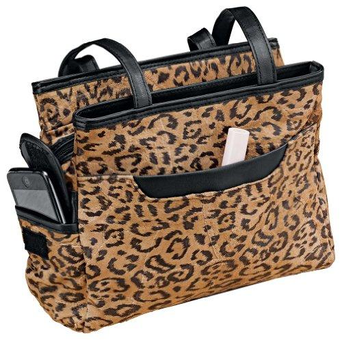 WalterDrake Leopard Patch Suede Leather Handbag