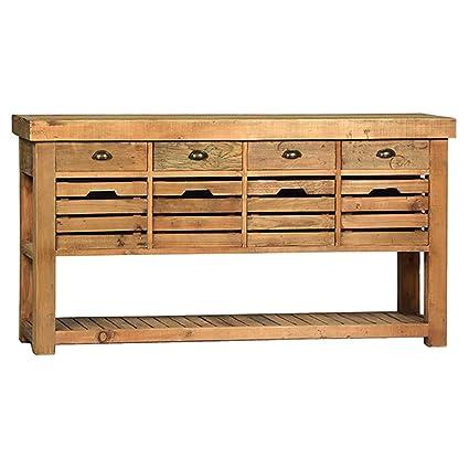 Astonishing Amazon Com Reclaimed Teak Sideboard Kitchen Dining Inzonedesignstudio Interior Chair Design Inzonedesignstudiocom