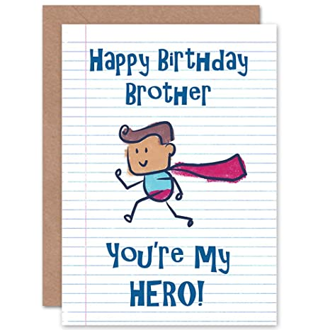 Amazon.com: Tarjeta de cumpleaños Happy hermano Super Man ...
