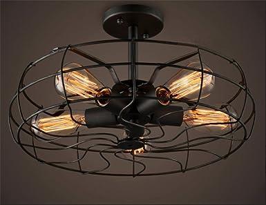 Retro Industrie Design Deckenleuchten im Loft-Style ...