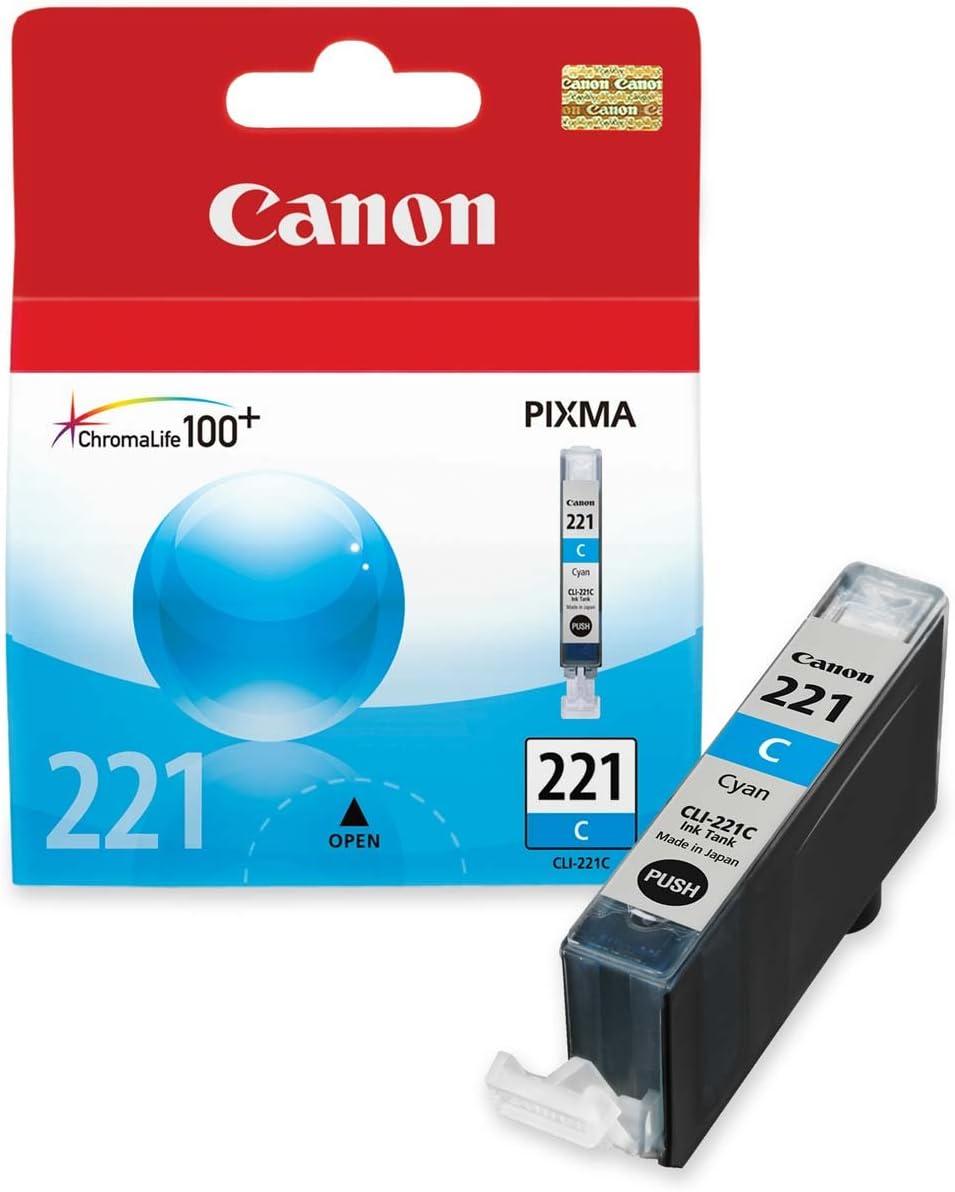 Canon CLI-221 Cyan Ink Tank Compatible to MP980, MP560, MP620, MP640, MP990, MX860, MX