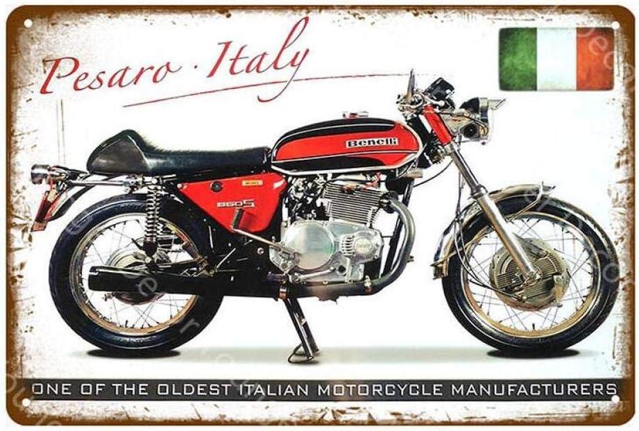 shovv Am/éricain Italie Angleterre Classiques Motocyclettes en M/étal Signes M/étalliques Vintage Affiche Murale pour Pub Bar Garage Club Home Decor Art Autocollant