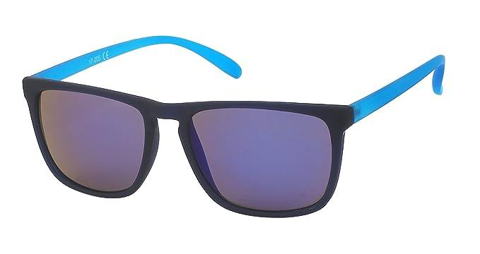 Sonnenbrille Steg hoch Gestell dünn 400 UV schwarz bunt Herren gelb YjQKz13w