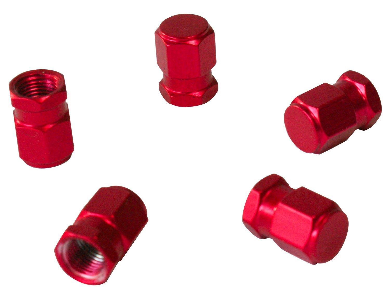 CORA 000120650 5 Pezzi Tappi Valvola Universali Rosso