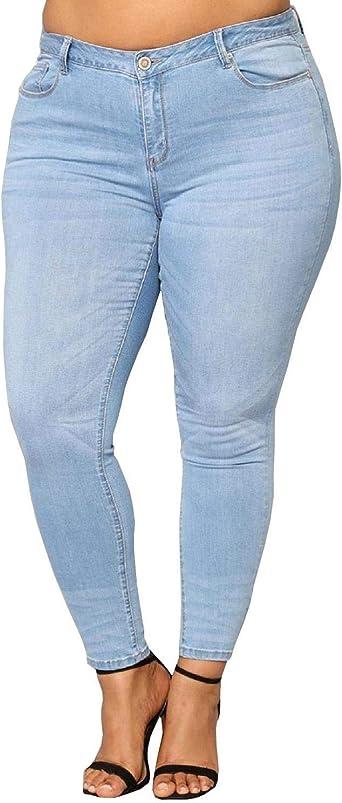 Amazon Com 1826 Nina Rossi Pantalones Vaqueros Ajustados Para Mujer Talla Grande Color Azul Y Negro Pantalones Vaqueros Clothing