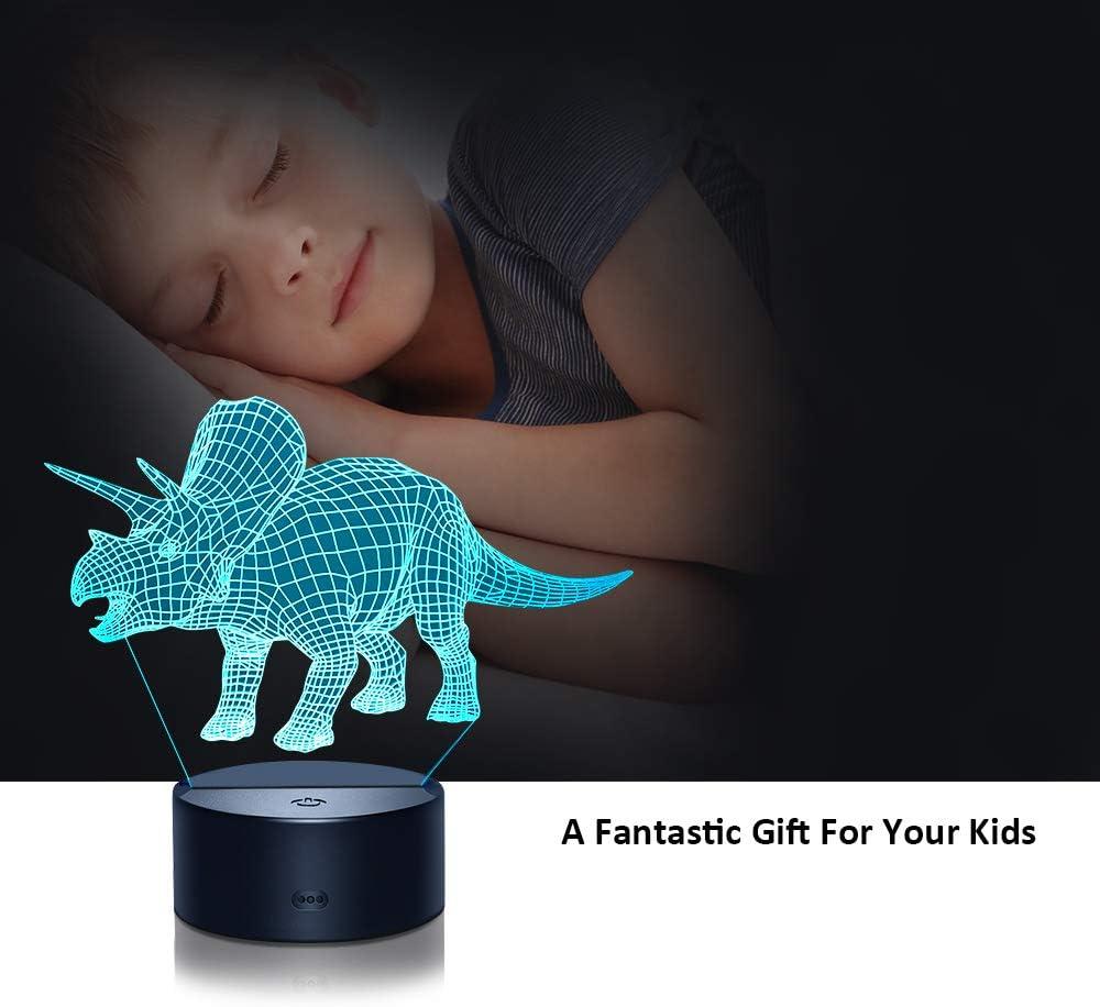 Best Gifts Kimy 3D Dinosaur Night Light for Kids