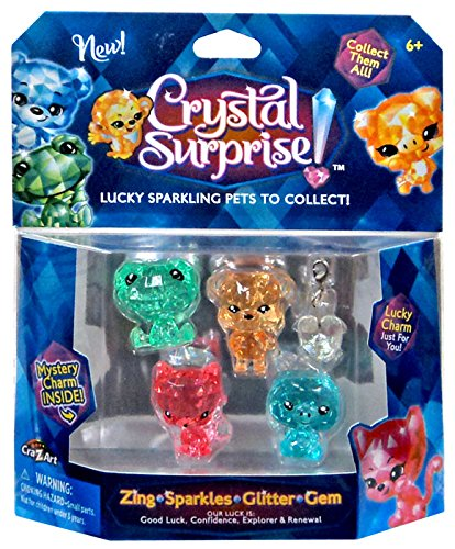 Crystal Surprise! Zing, Sparkles, Glitter & Gem Lucky Pets Figure 5-Pack [Random (Pet Gem)