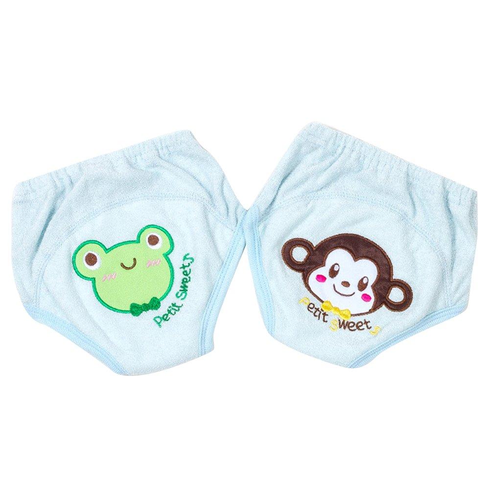 JEELINBORE 5pcs Bébé Couches-culottes anti-fuite Brodé Lavable Réutilisable Sous-vêtements pour 1-3 Ans Enfants