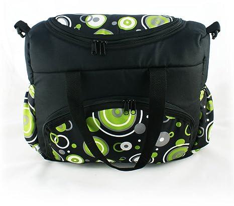 Bebé bolso cambiador Bolso para cochecito Negro rünge verde Diseño Shopper Bolsa para pañales Bolsa de