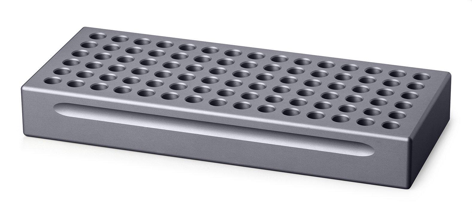 Biocision BCS-102 Grey CoolRack M90 Tube Holder for 90 x 1.5 or 2 mL Microfuge Tubes